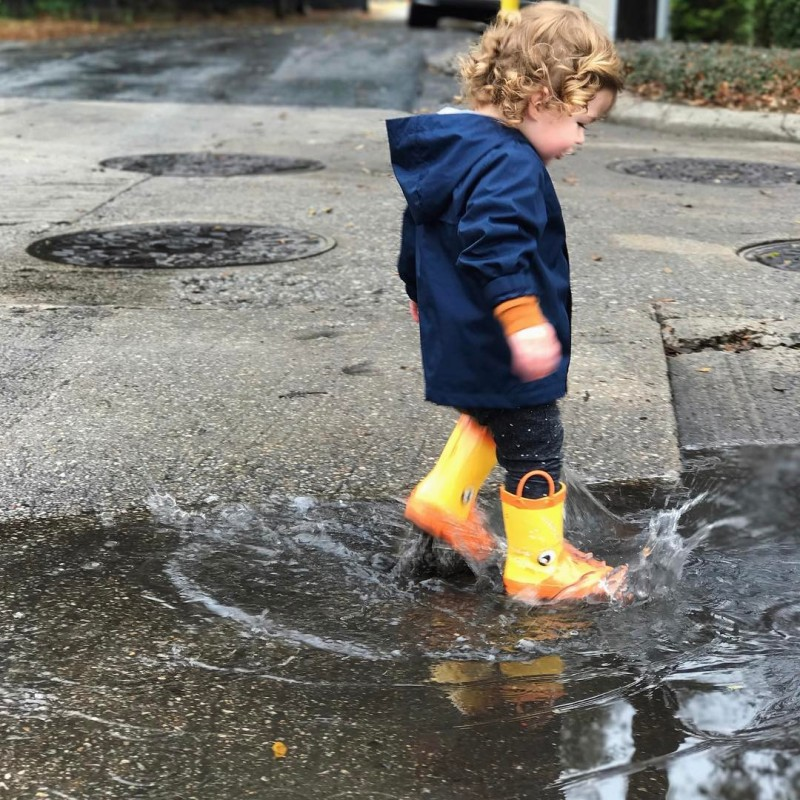 Find a puddle and this boy will now splash inhellip